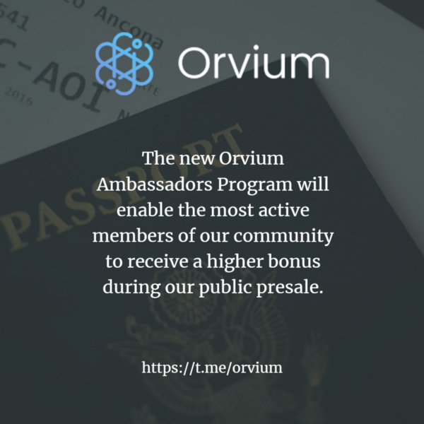 Orvium launches its Ambassadors Program